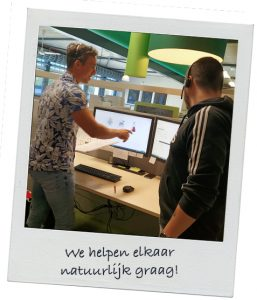 Polaroid_We_helpen_elkaar_natuurlijk_graag
